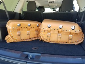L@@K ● GENUINE INDIAN CHIEF MOTORCYCLE LEATHER SADDLEBAGS ● NEW NEVER BEEN USED ● L@@K for Sale in Delray Beach, FL