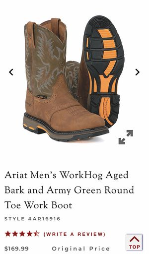 Arias work boots steel toe for Sale in Fuquay-Varina, NC