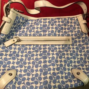 Large Blue & White Coach Purse for Sale in Chicago, IL