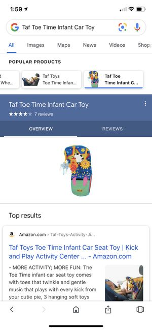 Tad toe time infant car seat toy for Sale in Gilbert, AZ