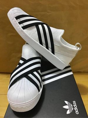 White black adidas shoes 8.5 to 10.5 men for Sale in Los Angeles, CA