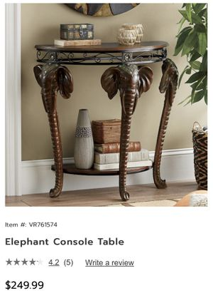 Elephant Entryway Table for Sale in St. Louis, MO