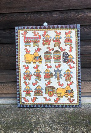 Framed cotton tapestry from Asia for Sale in Eugene, OR
