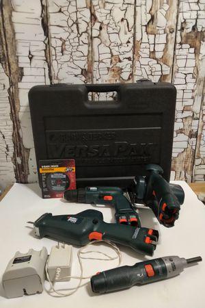 Black & Decker 4 Pc VersaPak Tool Set Drill Saw Screwdriver Light Charger w/Case for Sale in Denver, CO