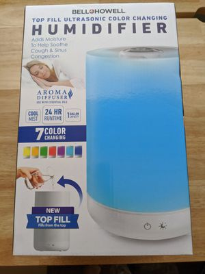 Color changing Ultrasonic Humidifier 1 gallon capacity for Sale in Fontana, CA