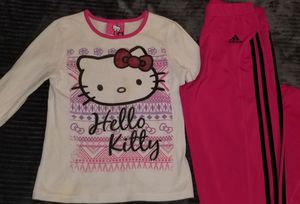 Hello kitty long sleeve and adidas pants for Sale in Chino, CA