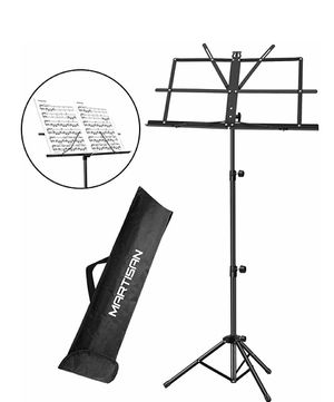 MARTISAN Sheet Music Stand Holder/Portable Folding Music Stand Super Sturdy Adjustable Height Tripod Base Metal Music Stand for Sale in South El Monte, CA