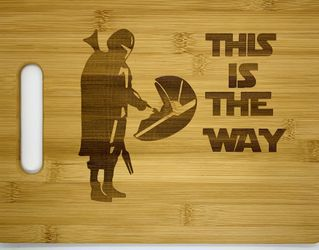 Star wars laser engraved bamboo high quality cuttingboard pop gift for Sale in Los Angeles,  CA