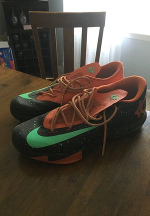 Men's Nike Basketball Shoes Size 12 KD 6 Texas 10/10 condition worn twice for Sale in Henderson, KY