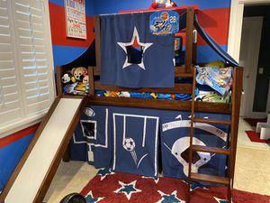 Wood Twin Loft Bunk Bed Slide Ladder $250 for Sale in Miami, FL