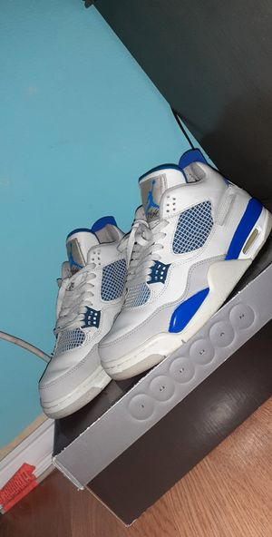2006 military blue jordan 4 size 9 with swapped nike air tabs for Sale in Houston, TX