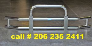 Stainless steel semi truck grille guard for Volvo, Freightliner, Peterbuilt, Kenworth semi trucks for Sale in SeaTac, WA