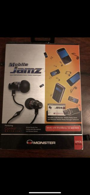 Monster Beats Mobile Jamz in ear headphones earbuds w/lightning adapter - brand new, paid $100! Better sound than wireless bluetooth Apple airpods! for Sale in Oceanside, CA