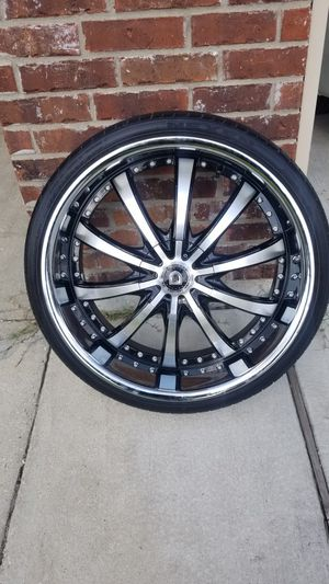 24 inch lexani lss-10 rims with tires for Sale in Denham Springs, LA