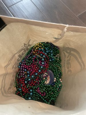 FREE- mardi gra beads and orbi beads for Sale in Spring, TX