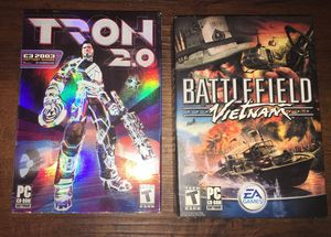 Boxes and inserts only for the pc games Tron 2.0 and Battlefield Vietnam for Sale in Columbus, OH