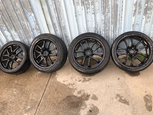 19in Infiniti G35 Rays Racing FORGED wheels rims tires for Sale in Queens, NY