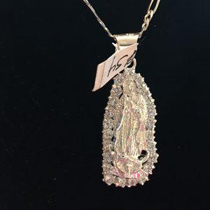 Pendant And Chain Silver 925 for Sale in Stockton, CA