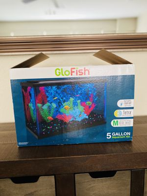 New open box glow fish 5 gallon aquarium kit for Sale in Las Vegas, NV