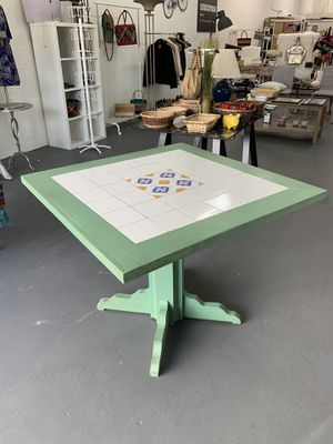 Solid Wood and Tile Top Kitchen and Patio Table for Sale in Miami, FL