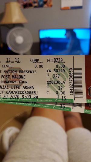Post Malone Runaway Tour Tickets for Sale in Taylors, SC