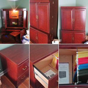 (2) Convertible lighted work station and filing cabinet for Sale in Elkridge, MD