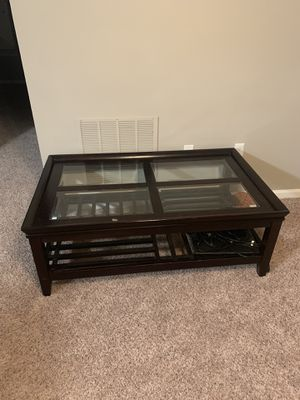2 tables, rug, book shelf and queen size box spring. Need gone ASAP - package deal for Sale in Durham, NC