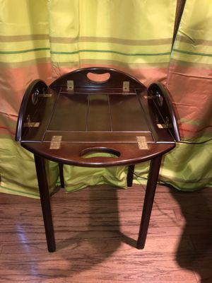 Hinged Mahogany Butler's Tray Table for Sale in Houston, TX