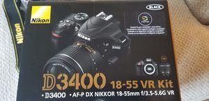 Nikon D3400 15-55 VR kit. Bought recently, lightly used by one owner. Comes with all pictured for Sale in Manchester, CT