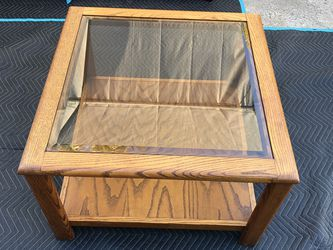 Coffee Table With Glass on top Hard Wood excellent condition. for Sale in La Mesa,  CA