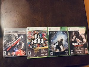 Xbox 360 games, halo 4 , fight night champion , & dj hero , also ps3 game need for speed hot pursuit (30$ for all or best offer) for Sale in Miami, FL