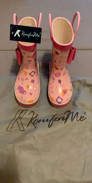 Girls printed Rainboots toddler side 6 for Sale in Miami, FL