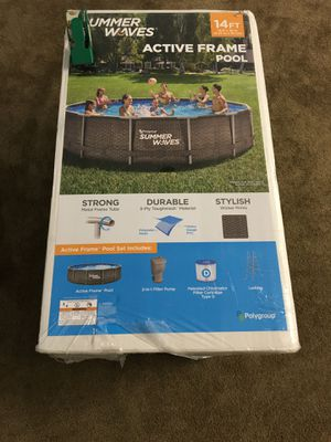 Brand New Summer Waves 14ft Metal Active Frame Swimming Pool for Sale in Pittsburgh, PA