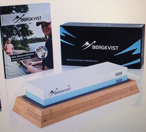 Bergkvist knife water sharping stone 1000 6000 asking 25.00 new in box for Sale in Los Angeles, CA