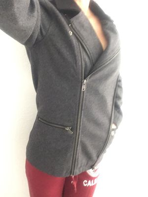 VANS new dark grey tweed zippered jacket size small for Sale in Hesperia, CA
