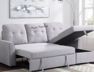 Reversible Storage Sleeper Sectional Sofa /// Financing Available for Sale in Hialeah,  FL