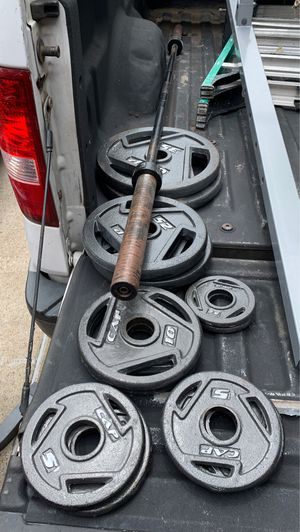 Weights with barbell for Sale in Richmond, TX