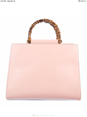 Gucci pink leather bamboo handbag with shoulder strap for Sale in Stockton, CA