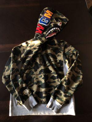 bape half zip up shark hoodie for Sale in Oak Harbor, WA