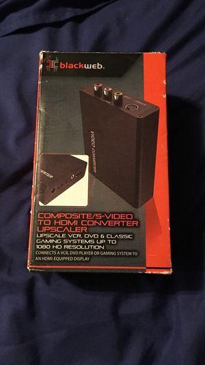 Blackweb composite/s-video to hdmi converter for Sale in Wichita, KS