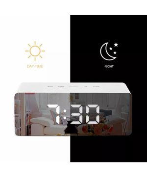 LED Digital Mirror Alarm Clock Night Lights For Bedroom Office Gym Bathroom Kid's Room for Sale in Henderson, NV