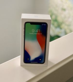 iPhone X Silver 64gb perfect condition unlocked for Sale in Issaquah, WA