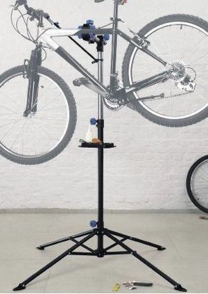 New adjustable 41 to 75 inch bicycle bike repair stand with handlebar stabilizer bar 66lbs capacity excellent quality for Sale in Los Angeles, CA