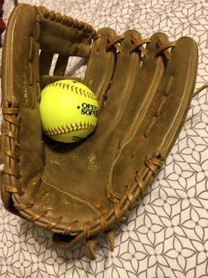 Softball glove and ball for Sale in Fort Worth, TX