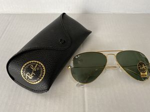 Ray-Ban Aviator RB 3025 L0205 Classic Gold G15 Green Lens Sunglasses 58mm for Sale in Los Angeles, CA