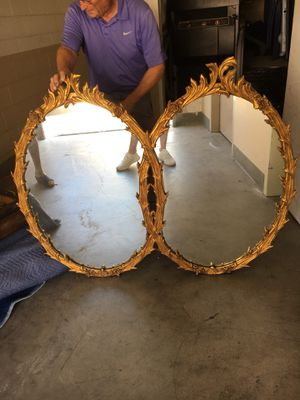 Antique gilded gold twin mirror for Sale in Los Angeles, CA