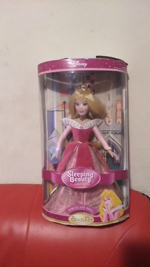 Sleeping beauty Disney brass key porcelain doll for Sale in Louisville, KY