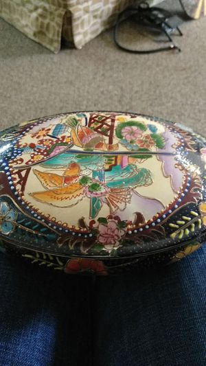 Antique M.H paint dresser trinket box for Sale in Lacey, WA