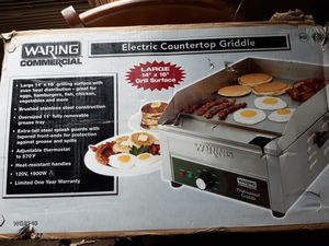 Waring commercial countertop griddle for Sale in Meriden, CT