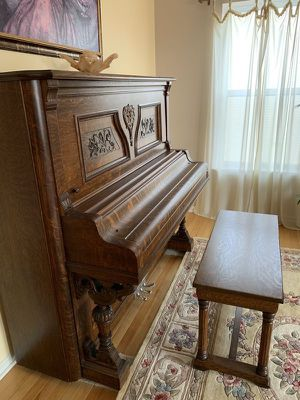 Antique Newman Brothers Upright Grand Piano - From 1800s for Sale in Mundelein, IL